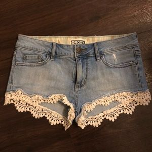 Roxy Denim with Crochet shorts